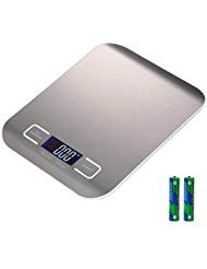 High Precision Measurement Accuracy Stainless Steel Digital Kitchen Scale Electronic Food Scale Range From 0.05oz (1g) to 11lbs 5kg (Batteries Included) ~ Cafolo ()