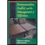 Communication, Conflict and the Management of Difference, Domenici, Kathleen and Littlejohn, Stephen, 0131933655