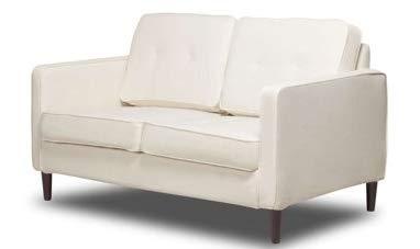 Phenomenal Amazon Com Love Seat Small Sofa Bench Glacier 55 L Machost Co Dining Chair Design Ideas Machostcouk