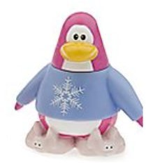 CLOSE OUT PRICING - Disney Club Penguin Pink Snow Princess Penguin with Pink Bunny Slippers 2