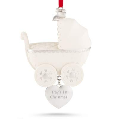 Things Remembered Personalized Baby Carriage Ornament with Engraving Included