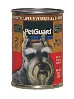 PETGUARD DOG SENIOR CHKN LIVER, 14 OZ