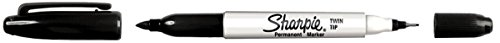 (Sharpie Fine/Ultra Fine Twin Tip Permanent Marker, Black (Pack of 12))