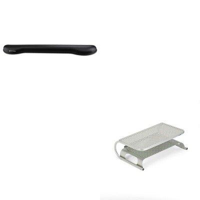 KITASP27873IVR51451 - Value Kit - Allsop Metal Desktop Printer/Monitor Stand (ASP27873) and Innovera Softskin Gel Keyboard Wrist Rest (IVR51451) - Allsop Desktop Printer