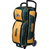 KR Strikeforce Bowling Bags Green Bay Packers 3 Ball Roller Bowling Bag, Green/Yellow