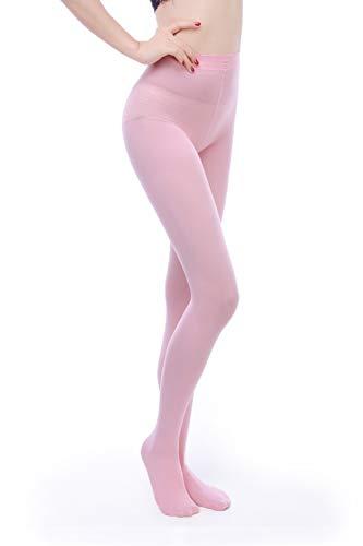 Opaque Pink Tights (EVERSWE Women 80 Den Soft Opaque Tights, Women's Tights (L/XL, Pink))
