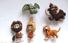 Stone Age/Caveman & Animals Buttons -