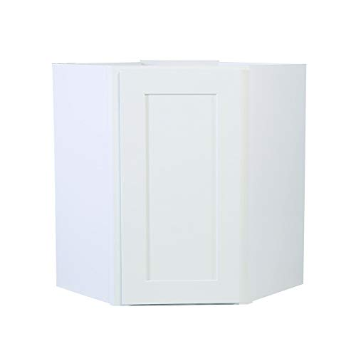 Design House 561779 Brookings 24-Inch Corner Wall Cabinet, White -
