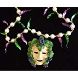 God of Wine Grape Mardi Gras Bead Necklace Grapes Spring Break Cajun Carnival Festival ()