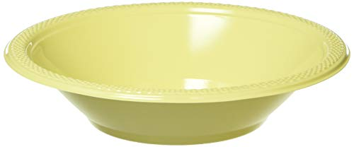 Light Yellow Plastic Bowls | 12 oz. | Party Supply | 200 ct.]()