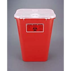 Bemis Healthcare 111 030 Red Sharps Container, 11 gal (Pack of 6)
