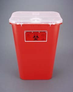 Bemis Healthcare 111 030 Red Sharps Container, 11 gal (Pack of 6) by Bemis Health Care