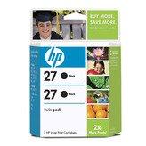 HP 27 Black Ink Print Cartridge, 560 Total Page Yield, Twinpack (C9322FN) (Ink Cartridges Hp 560)