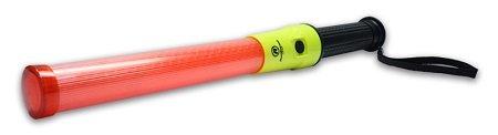 Railhead Gear Red LED Baton w/Black & Yellow Handle, 14 Super Bright LED's, 91 Hour Run Time, KE-SLB41-Y ()
