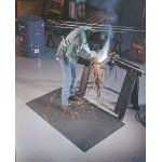 WearWell 3 x 5' 9/16'' Thick Black WeldSafe Mat by Wearwell