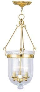 Livex Lighting 5064-02 Jefferson 3-Light Hanging Lantern, Polished Brass