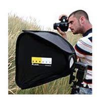 LastoLite LL LS2462 24x24 Inches Ezybox Hot Shoe Kit with Bracket (Black) - Lastolite Hot Shoe Ezybox Softbox