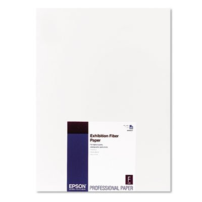 Epson S045037 - Exhibition Fiber Paper, 13 x 19, White, 25 Sheets