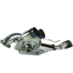 MXP MXSPZ06O Cat-Back Exhaust System with Oval Tip for Chevrolet (Oval Tips Chevrolet Corvette)