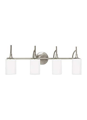 Sea Gull Lighting 44955EN3-962 Four Light Wall/Bath, Brushed ()