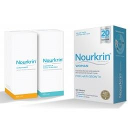 Nourkrin Woman 180 tablets includes Nourkrin Shampoo and Conditioner ()