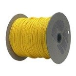 CORDAGE SOURCE Twisted Poly Rope, 1/4-Inch by 600-Feet, Yellow