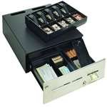 MMF ADV-1M201-04 Advantage Manual Cash Drawer, 5 Bill/5 Coin, US Till, 18'' W x 20'' D, Black