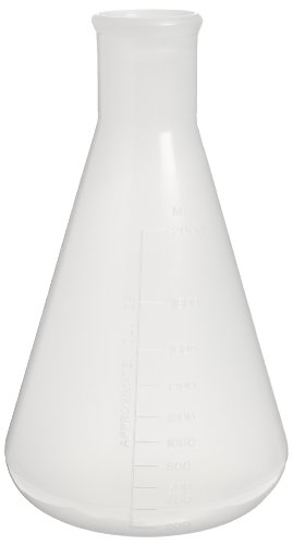 Nalgene 4102-2000 Polypropylene 2000mL Erlenmeyer Flask (Pack of 2) (2000 Ml Erlenmeyer Flask Stopper)