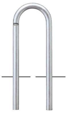 サンポール アーチ 固定式 車止めポール 直径48.6mm W300×H550 ステンレス製 メーカー直送 AC-48U   B07MXFCB2L