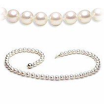 """Sterling-Silver 8-8.5 MM White Freshwater Cultured Pearl Strand, 18"""""""