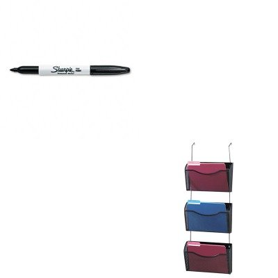 KITROL21961SAN30001 - Value Kit - Rolodex Three-Pack Wire Mesh Wall Files (ROL21961) and Sharpie Permanent Marker (SAN30001)