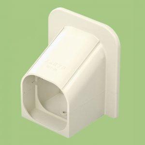 10個セット 配管化粧カバー 取出しカバー(コーナーキャップ) 77タイプ ホワイト SKT-75-W_set