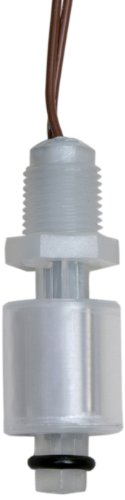 Madison M3326-NPT Plastic Normally Closed Subminiature Liquid Level Float Switch with Polypropylene Stem, 15 VA SPST, 1/8
