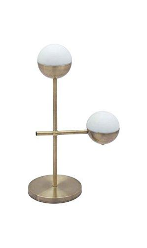 Zuo 56050 Waterloo Table Lamp, White & Brushed Bronze