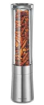 Zassenhaus Diavolo - Chilli Mill - Stainless Steel/Acrylic - - Pepper Chili Mill
