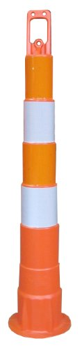 - Work Area Protection CC42 Linear Low Density Polyethylene Channelizer Traffic Cone with Engineering Grade Reflective Sheeting, 6