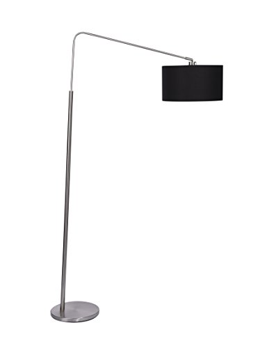 Artiva USA 9419FG 80-Degree Modern Medium Arch Brushed Steel Floor Lamp, 64