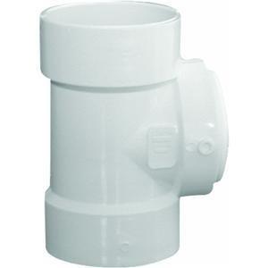 Genova Products 71340 Test Tee with Flush Plug, 4