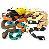 BOLEY Giant Rubber Snakes 18'' Long Jungle, Rainforest and Tropical Snakes, including Rattlesnakes, Pythons Cobras - 8 pack by Boley (Image #2)