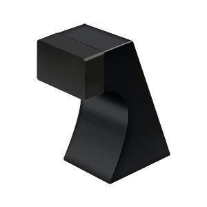 DELTANA FLOOR DOOR BUMPER, CONTEMPORARY, SOLID BRASS (Paint Black, ()
