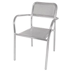 4 x Bolero aluminio Bistro sillas apilables (4 unidades ...