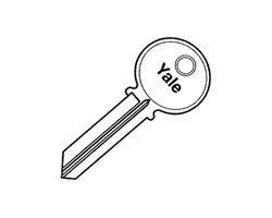 Yale RN11-GB Standard Bow Key Blanks (Box Of 50) by Yale ASSA ABLOY