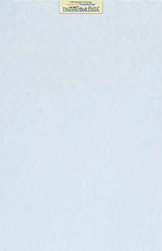 Text 60lb Blue - 50 Light Blue Parchment 60# Text (=24# Bond) Paper Sheets - 11