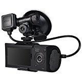 2.7 inch Multi Language 480P 140 Degree Wide Angle Dual Camera Car DVR Camera Dash Cam Vieo Recorder with GPS G-sensor VO-027-2