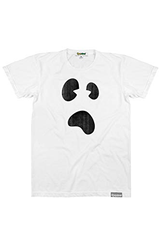 Halloween Ghost T Shirt (Men's White Ghost T-Shirt for Ghost Halloween Costume Top)
