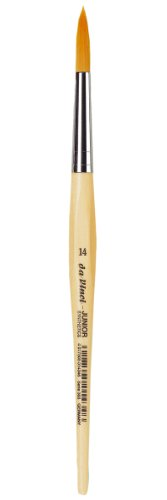 da Vinci Student Series 303 Junior Paint Brush, Round Elastic Synthetic with Lacquered Non-Roll Handle, Size 14
