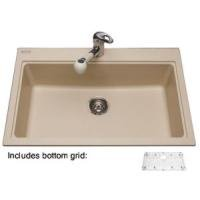 Kindred KGSL2031/8PW Mythos Granite Drop-In Single Bowl Kitchen Sink - 5 Holes In Polar White