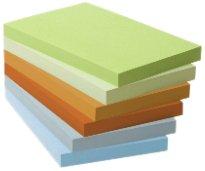 Post-it - BP272 - Note recyclée - 76 x 127 mm - Tour de 6 blocs - Jaune pastel