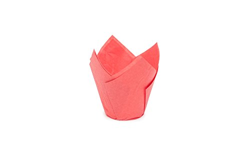"""Tulip Cupcake Liner Multi color Paper Baking Cups Easy Release Muffin Cup liners/No need To Spray Cup Perfect For Baking Muffins / Cupcakes 715050PCOL6 Medium(H3-17/64""""x1-57/64"""")(100"""