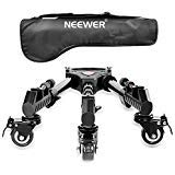 Neewer Photography Professional Heavy Duty Tripod Dolly with Rubber Wheels and Adjustable Leg Mounts for Canon Nikon Sony DSLR Cameras Camcorder Photo Video Lighting from Neewer
